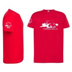 T-shirt czerwony terracan